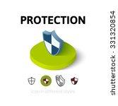 protection icon  vector symbol... | Shutterstock .eps vector #331320854