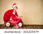 child riding in red car. kid... | Shutterstock . vector #331325579