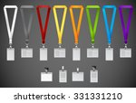 set of lanyards with different... | Shutterstock .eps vector #331331210