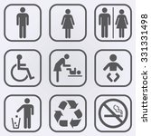 People Icon Set . Toilet...