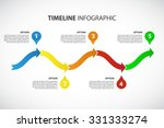bright timeline vector...   Shutterstock .eps vector #331333274