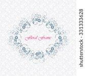 vector decorative frame.... | Shutterstock .eps vector #331333628