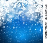 snowflakes background with... | Shutterstock .eps vector #331335068