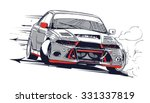 drifting car | Shutterstock .eps vector #331337819