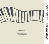 Piano Keys Sketch. Abstract...