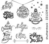 collection of merry christmas... | Shutterstock . vector #331339388