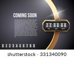 luxury background coming soon... | Shutterstock .eps vector #331340090
