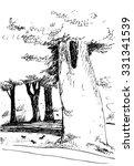 vector hand drawn illustration... | Shutterstock .eps vector #331341539