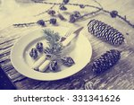 christmas table place setting... | Shutterstock . vector #331341626