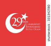 29 october cumhuriyet bayrami ... | Shutterstock .eps vector #331342580