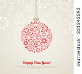 christmas bauble with... | Shutterstock .eps vector #331343093