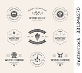 set of black wine labels and...   Shutterstock .eps vector #331346270
