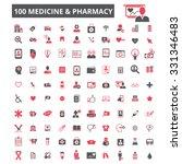 100 medicine technology ... | Shutterstock .eps vector #331346483