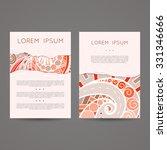 set of vector design templates. ... | Shutterstock .eps vector #331346666