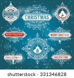 christmas labels and banners... | Shutterstock .eps vector #331346828