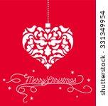 Vintage Heart Christmas Heart...