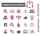 career development  job icons | Shutterstock .eps vector #331352339