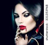 Vampire Halloween Woman...
