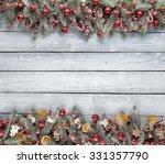 christmas fir tree with... | Shutterstock . vector #331357790