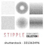 vector set of black and white... | Shutterstock .eps vector #331363496