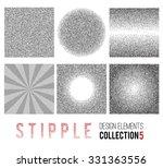 vector set of black and white... | Shutterstock .eps vector #331363556