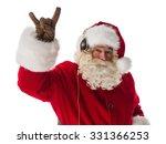 santa claus showing rock...   Shutterstock . vector #331366253
