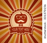 halloween banner hipster style | Shutterstock .eps vector #331370156