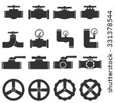 valve gas pipe taps icon set | Shutterstock .eps vector #331378544