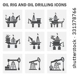 oil rig and oil drilling icon... | Shutterstock .eps vector #331378766