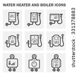 water heater and boiler icons. | Shutterstock .eps vector #331378883