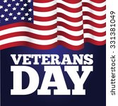 veterans day big flag design... | Shutterstock . vector #331381049