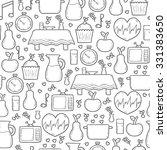 seamless hand drawn cartoon... | Shutterstock .eps vector #331383650