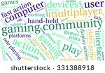gaming community word cloud on... | Shutterstock .eps vector #331388918