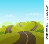 hill road  | Shutterstock .eps vector #331391624