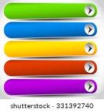 set of rectangular buttons with ... | Shutterstock .eps vector #331392740