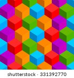 colorful cubes background.... | Shutterstock .eps vector #331392770