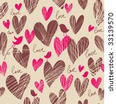birds in hearts | Shutterstock .eps vector #33139570