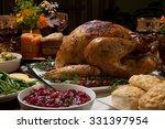 Roasted Turkey Garnished With...