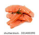 Salmon Slices With Raw Peppers...