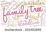 family tree word cloud on a... | Shutterstock .eps vector #331402850