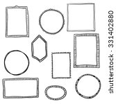 hand drawn frames set. cartoon... | Shutterstock .eps vector #331402880