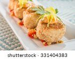 Breaded Crab Cakes Served On...