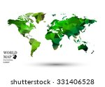polygonal world map vector. | Shutterstock .eps vector #331406528