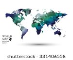 polygonal world map vector. | Shutterstock .eps vector #331406558