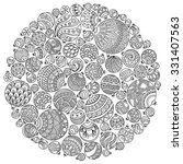 pattern for coloring book.... | Shutterstock .eps vector #331407563