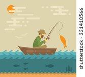fishing vector illustration ... | Shutterstock .eps vector #331410566