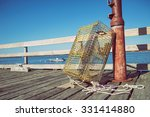 Lobster Trap At A Fishing Pier...