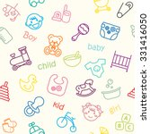 baby and kid  background. | Shutterstock .eps vector #331416050
