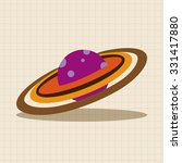 space planet flat icon elements ... | Shutterstock .eps vector #331417880