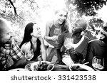 friends friendship outdoor... | Shutterstock . vector #331423538